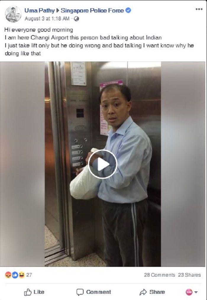 Unggahan di Facebook yang viral.