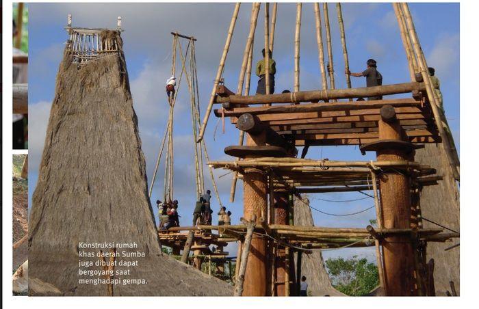 contoh rumah kayu di Sumba