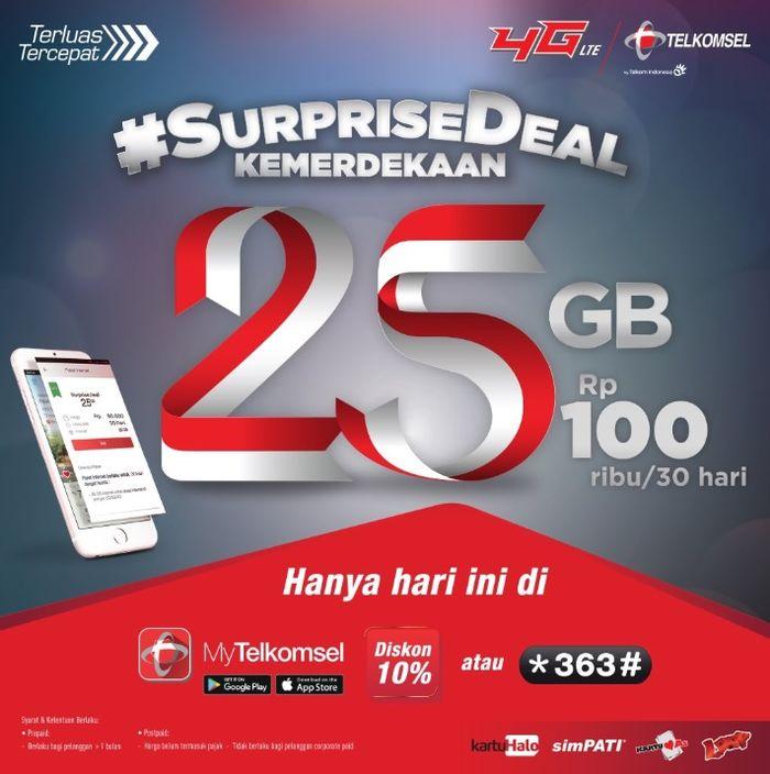 paket Surprise Deal Telkomsel