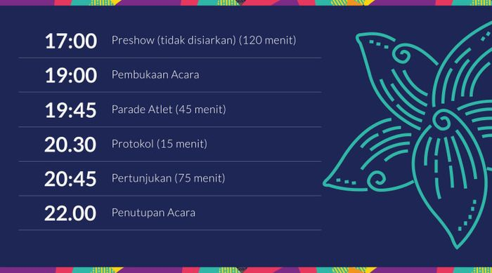 Jadwal Opening Ceremony Asian Games 2018
