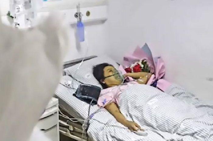 Xiao Hui terbaring di rumah sakit