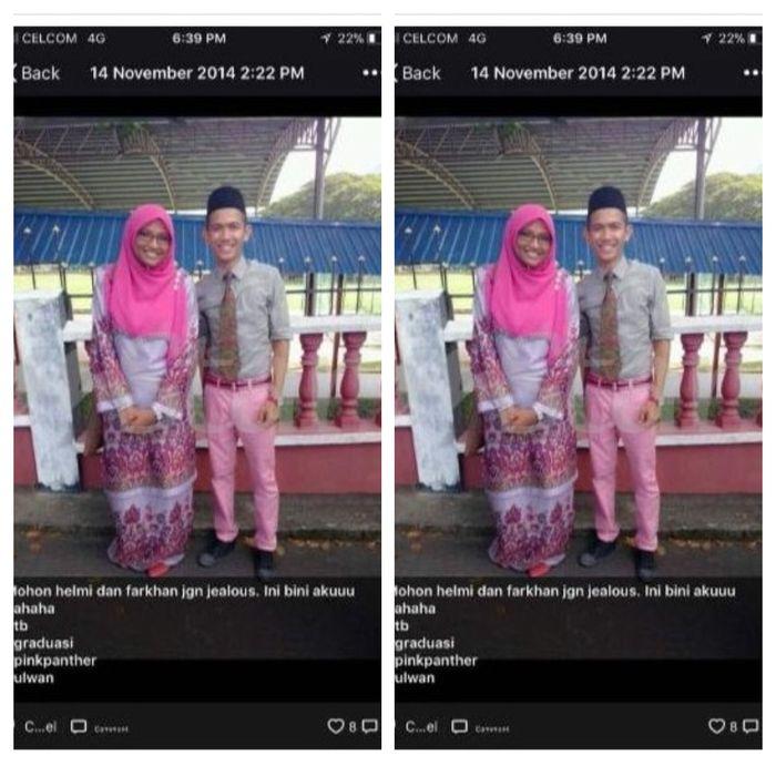 Foto kenangan Hazim dan Siti Aishah, saat keduanya masih menjadi murid dan guru