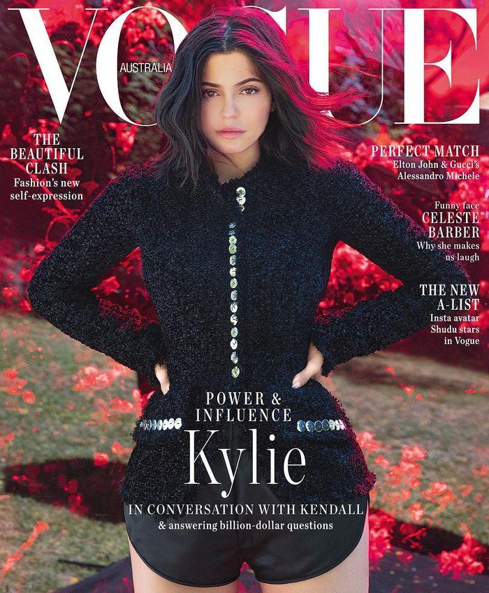 Kylie Jenner tampil tanpa makeup di sampul Vogue Australia