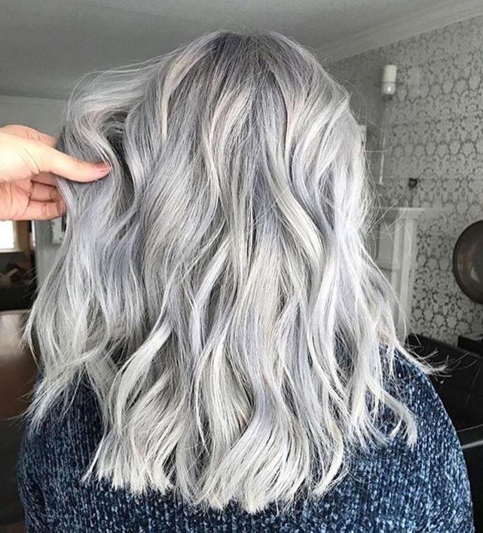 warna rambut silver