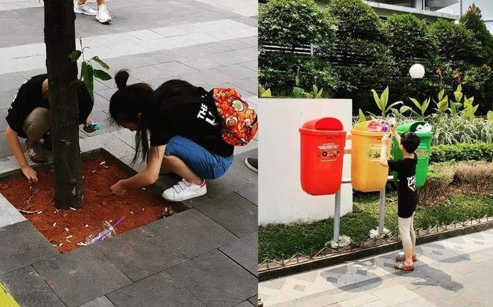 suporter Jepang pungut puntung rokok
