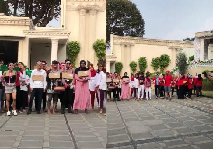 Keluarga Anang yang merayakan HUT RI ke-73