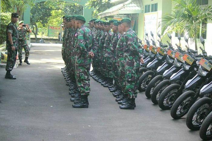 TNi dan motor dinasnya siap bertugas