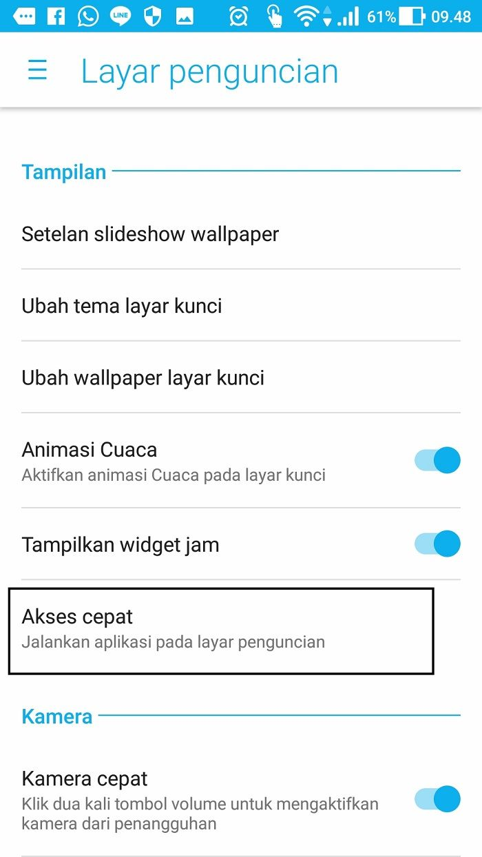 Cara membaca pesan WhatsApp meski layar sedang terkunci.