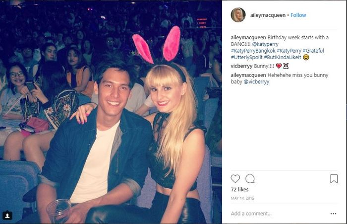 Richard dan Ailey saat menonton konser Katy Perry di Bangkok
