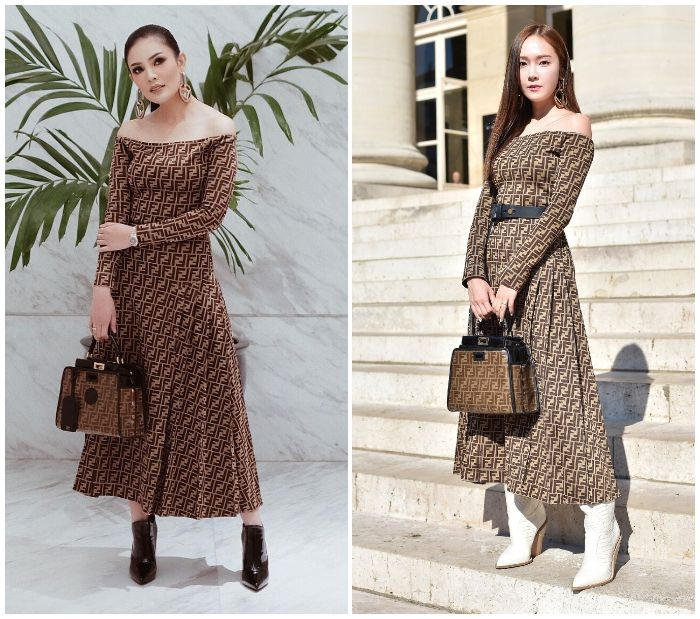 Nindy Ayunda VS Jessica Jung dalam balutan dress Fendi