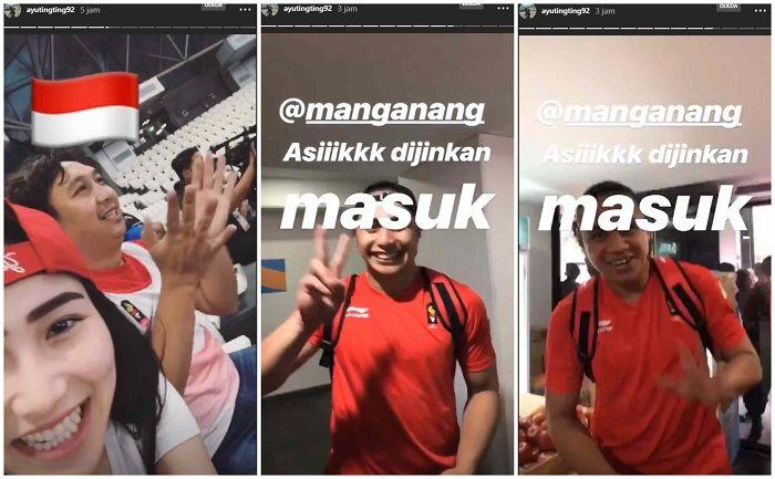 Ayu Ting Ting datang dan mendukung tim voli putri - Instagram