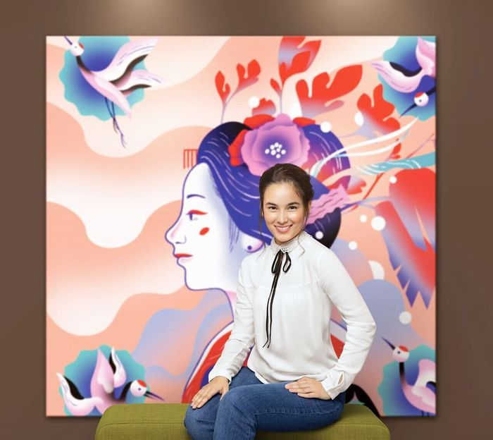 Mix and match outfit putih ala Chelsea Islan