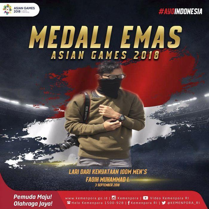 Medali emas cabor Lari dari Kenyataan