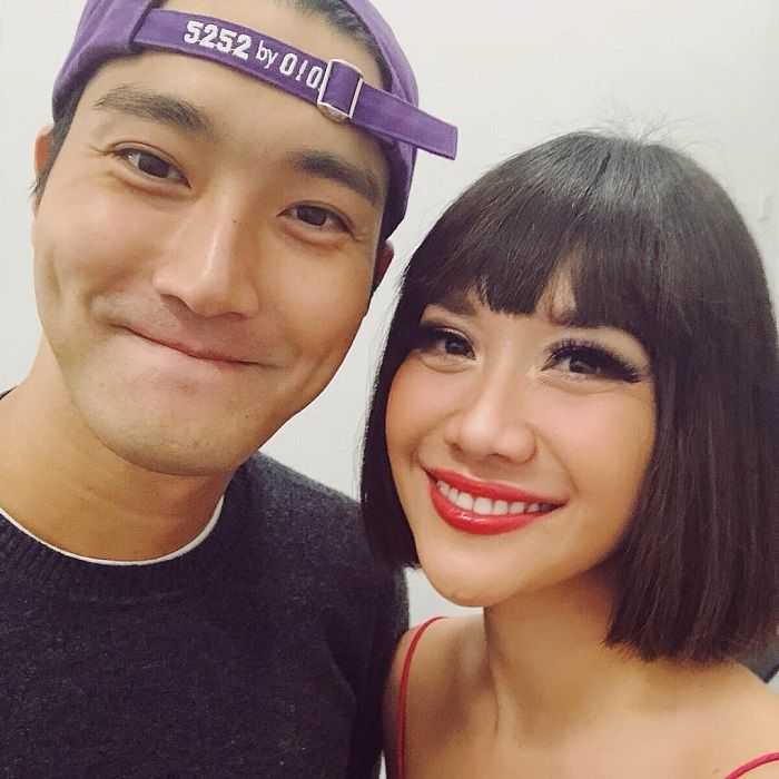 Choi Siwon dan BCL di backstage Closing Ceremony Asian Games 2018 - Instagram/bclsinclair