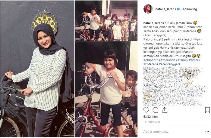 Natalie Sarah kenang foto masa lalunya yang pahit namun bermakna.