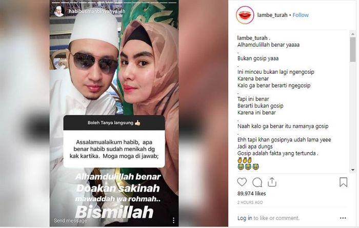 Habib Usman bin Yahya benarkan kabar pernikahannya dengan Kartika Putri.