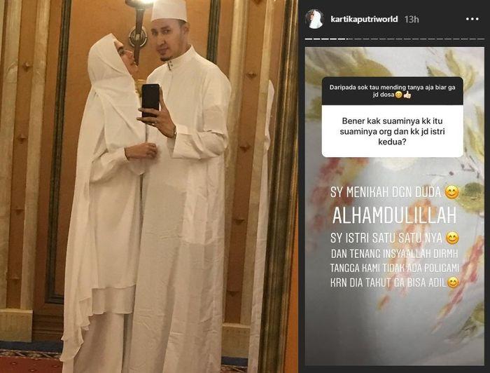 Kartika Putri bantah kabar statusnya jadi istri kedua