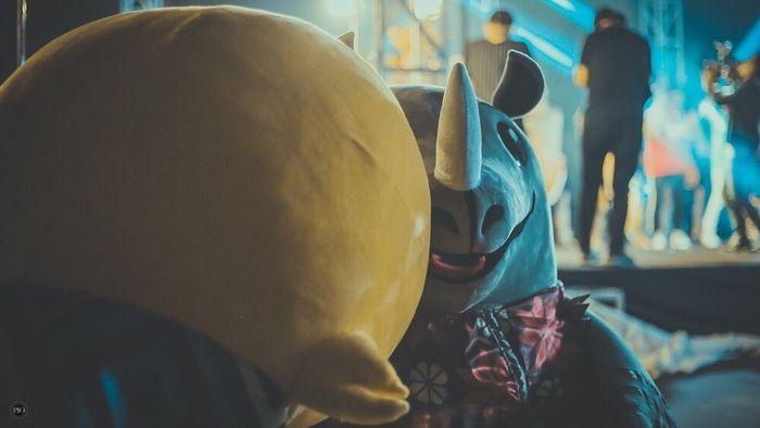 orang di balik kostum maskot Asian Games 2018