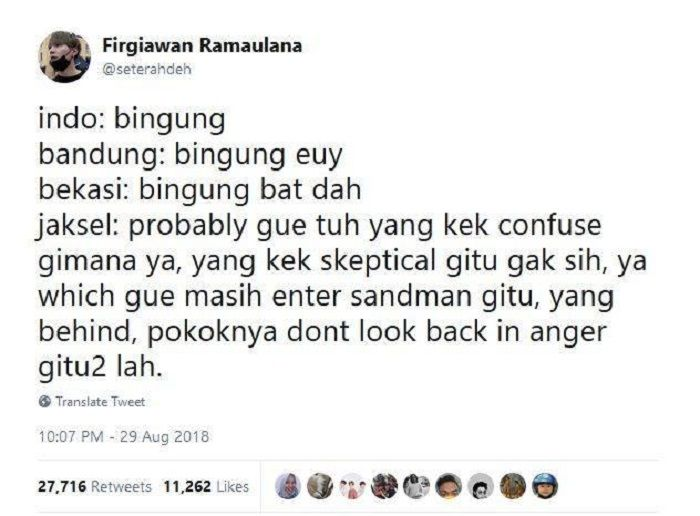 penggunaan bahasa campur-campur ala Jakarta Selatan