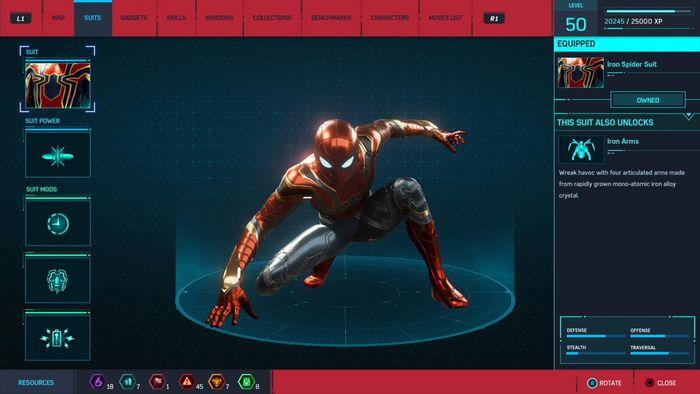 Iron Spider Suit di game terbaru Spider-Man
