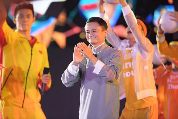 Jack Ma saat Asian Games 2018 di Indonesia.