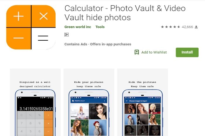 Calculator - Photo vault & video vault photos