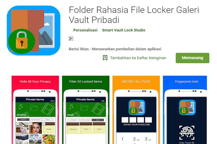 Secret Folder File Locker Private Vault Gallery