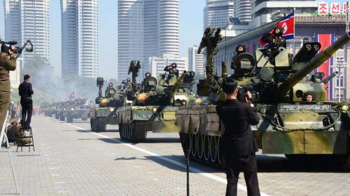 Parade militer Korea Utara.