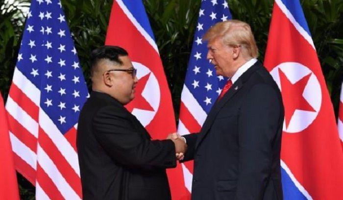 Donald Trump dan Kimg Jong Un