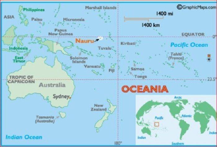 Peta Pulau Nauru