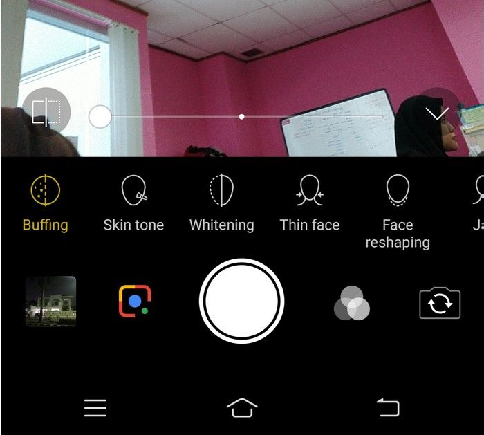 Vivo V11 Pro - menu kamera selfie
