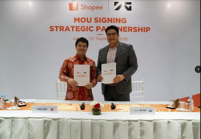 Shopee dan YG Entertainment