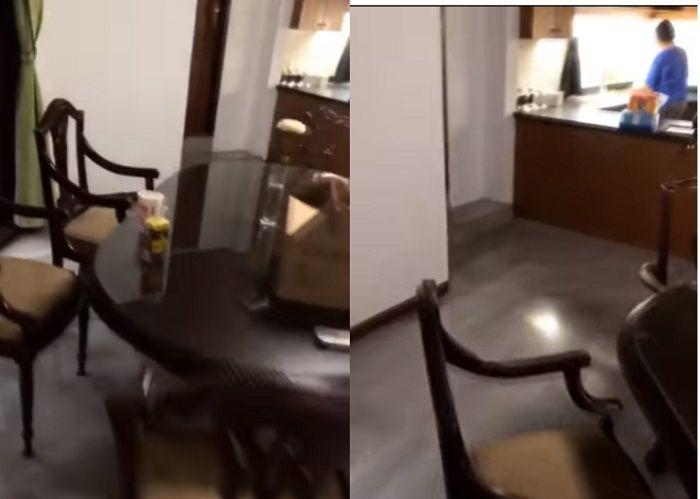 Interior dapur pada rumah baru Awkarin