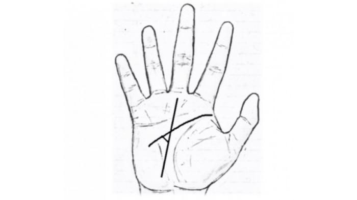 segitiga di tengah telapak tangan