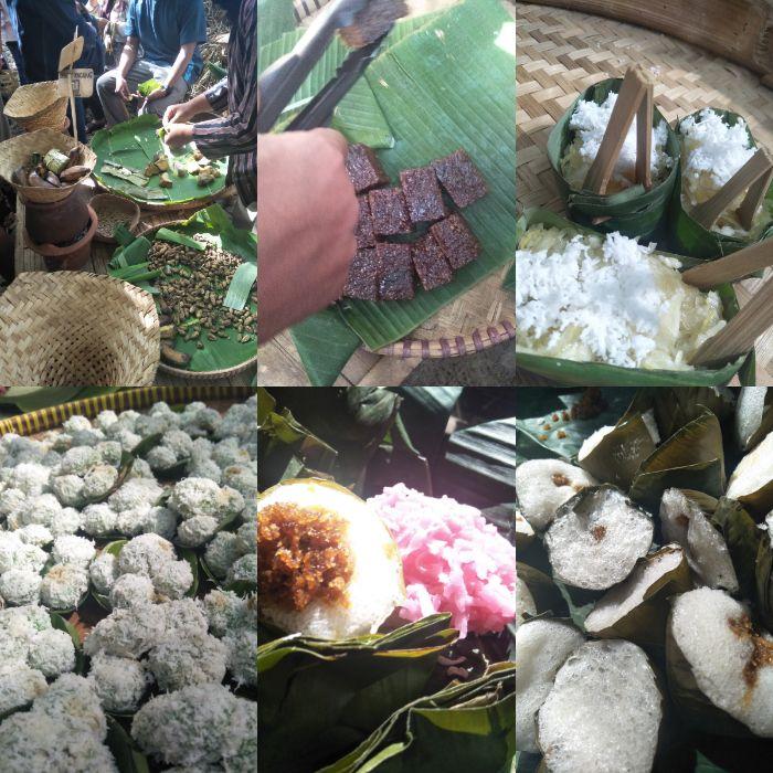 Makanan tradidional di Pasar Papringan.
