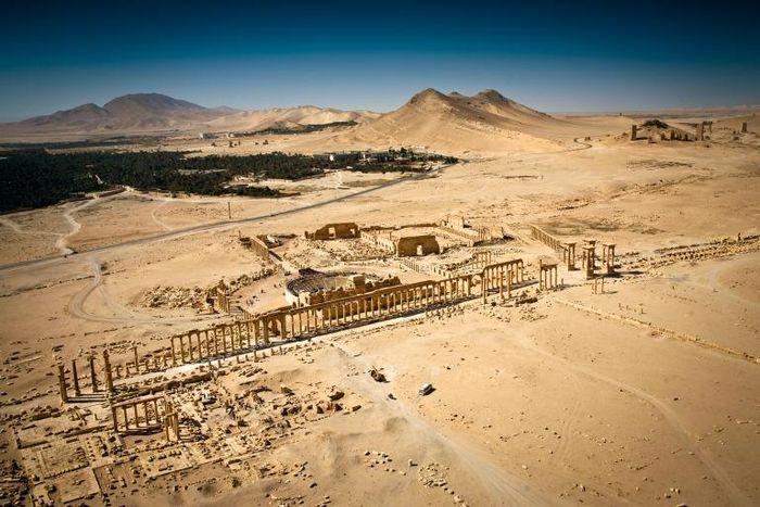 Foto udara Palmyra sebelum dikuasai ISIS pada 2015.