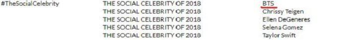 BTS masuk nominasi
