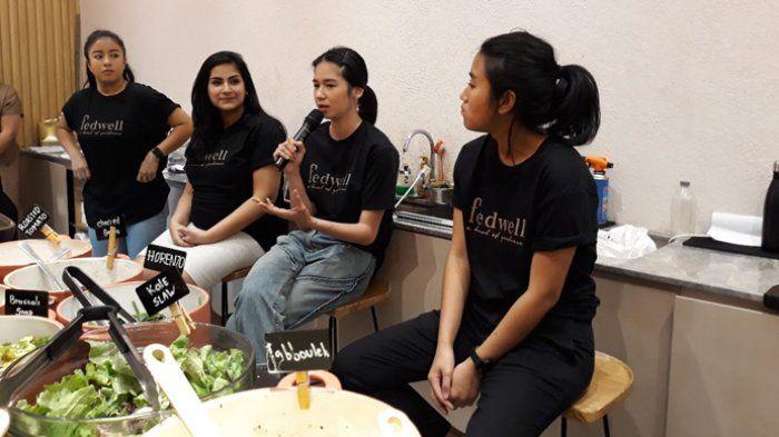 Laura Basuki saat launching Fedwell (Tribun Jakarta/Anisa Kurniasih)