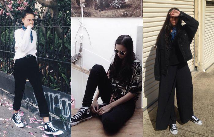 Celana warna hitam jadi fashion item favorit Lutesha