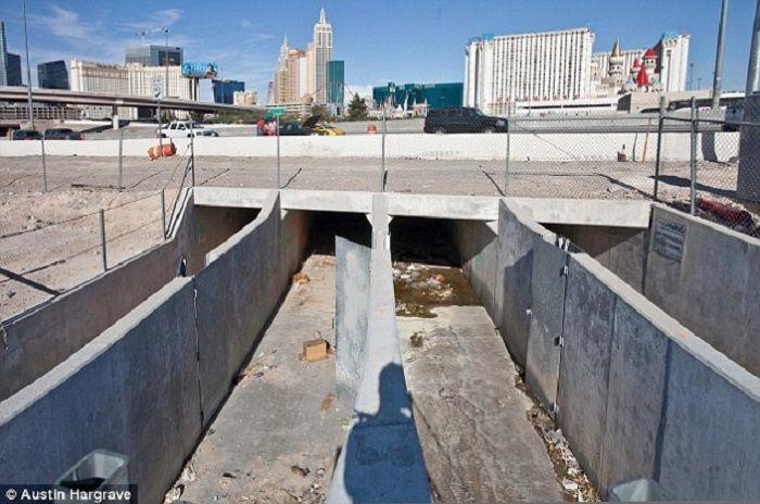 terowongan drainase Las Vegas