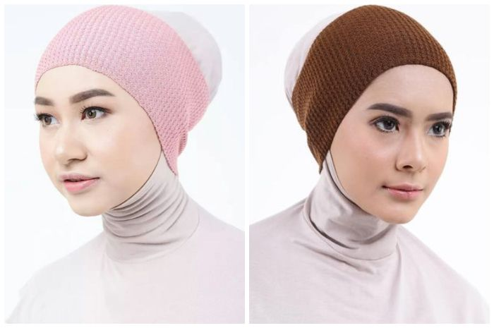 Model Ciput Bandana - Ciput Inner Dalaman Hijab Rajut 1 Warna