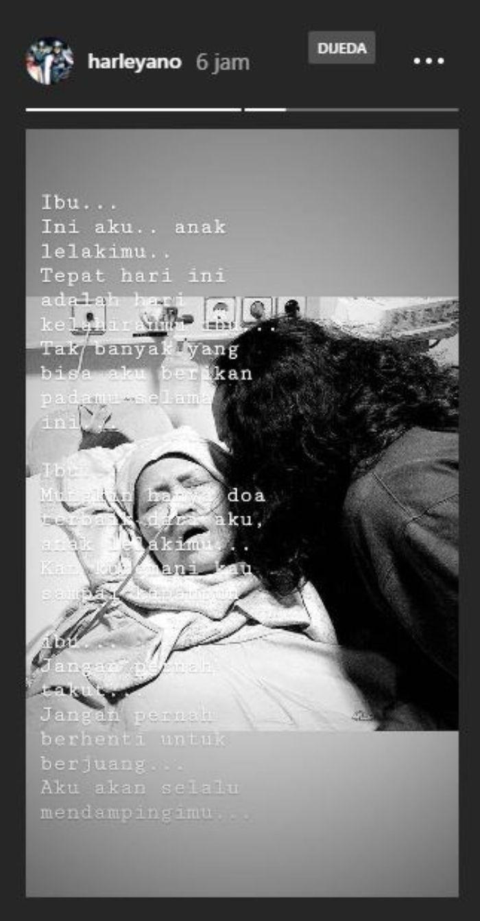 Update Instagram Story anak bungsu <a href='http://bangka.tribunnews.com/tag/indro-warkop' title='Indro Warkop'>Indro Warkop</a>, Harleyano Kusumonegoro