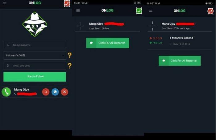 Tampilan Aplikasi OnLog