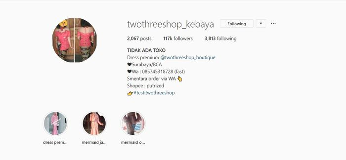 Online shop kebaya hijab - Two Three Shop Kebaya