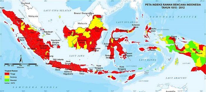 Peta Indeks Rawan Bencana (BNPB).