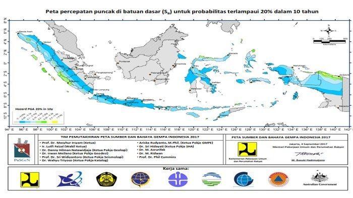 Peta Gempa di Indonesia, sesar Kambing yang disebut IAGI sebagai penyebab gempa Situbondo termasuk di dalamnya