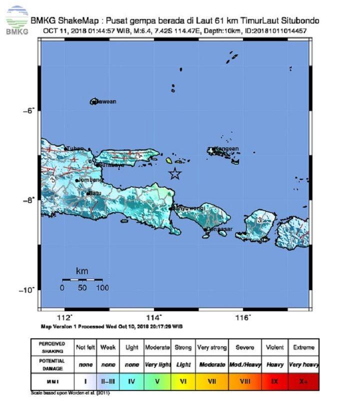 BREAKING NEWS: Gempa 6,4 SR Guncang Jawa Timur dan Bali, Beberapa Rumah Rusak