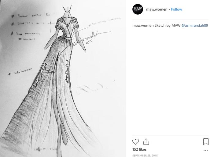 Sketch desain dari Asmirandah