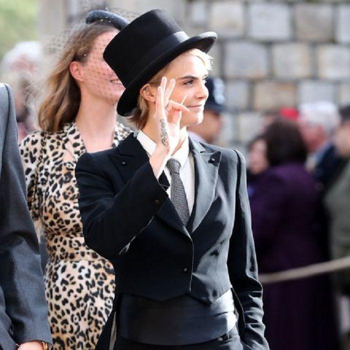 Cara Delevingne di royal wedding Putri Eugenie