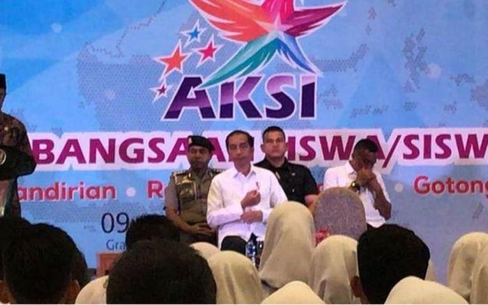 Jokowi di Apresiasi Kebanggaan Siswa Indonesia (AKSI) 2018
